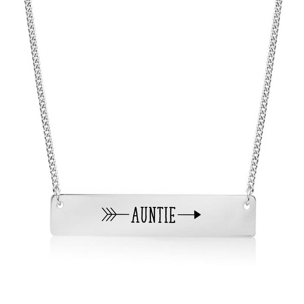 Auntie Arrow Gold / Silver Bar Necklace - pipercleo.com