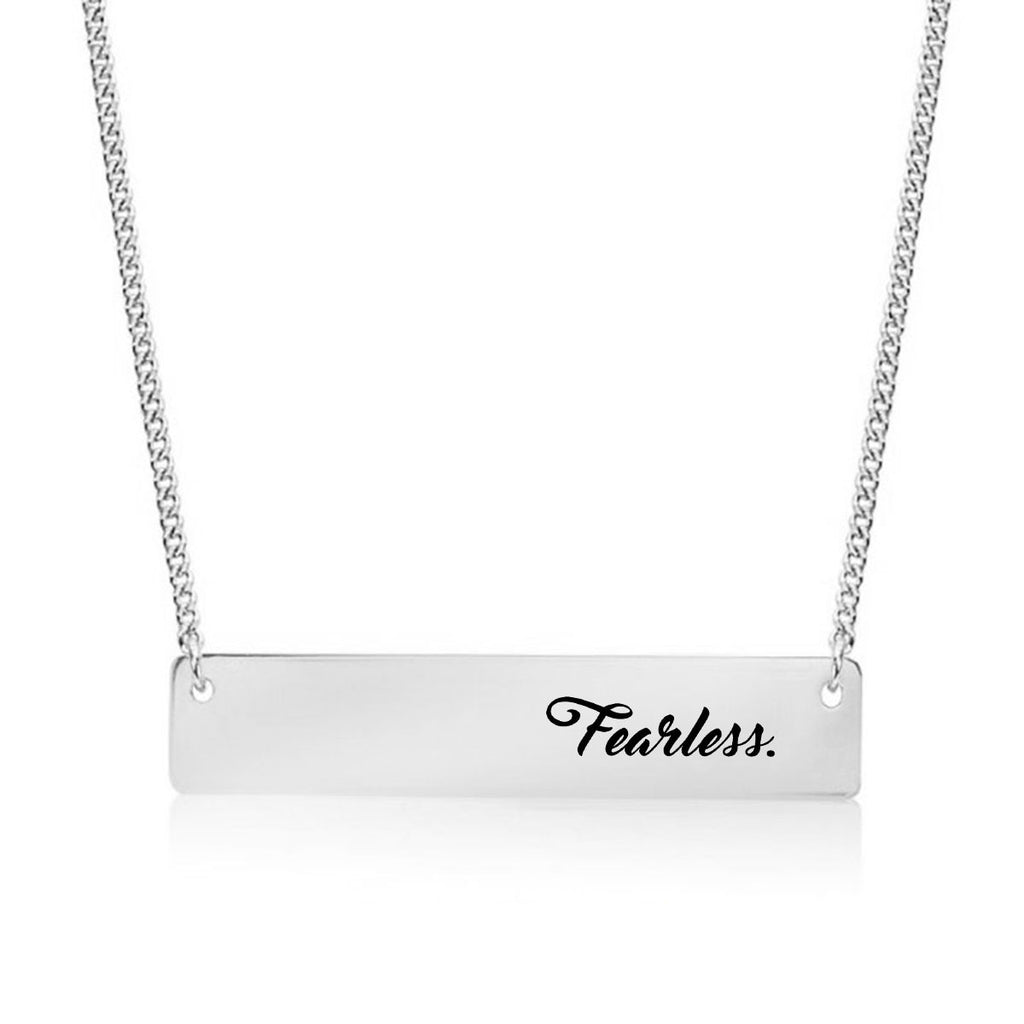 Fearless Gold / Silver Bar Necklace - pipercleo.com