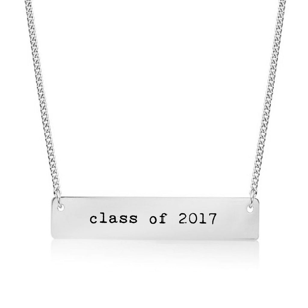 Class of 2017 Gold / Silver Bar Necklace