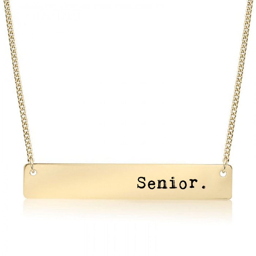 Senior Gold / Silver Bar Necklace - pipercleo.com