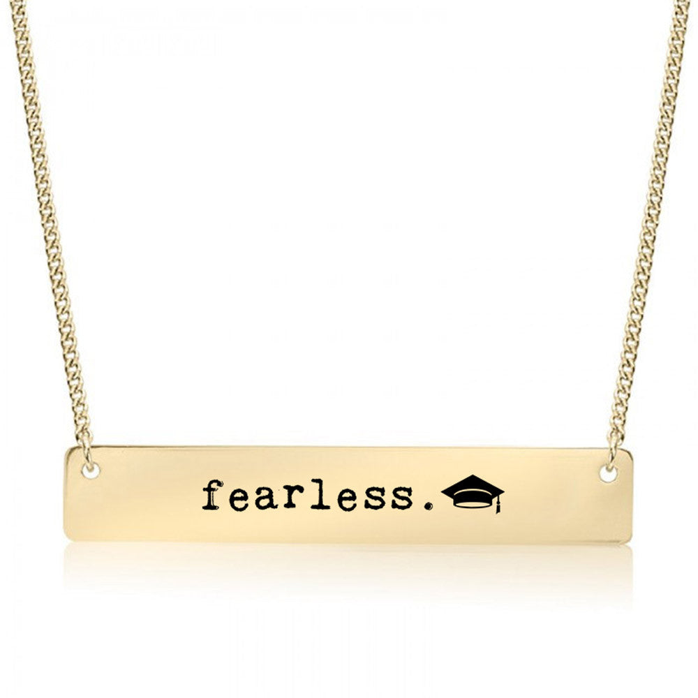 Fearless Future Gold / Silver Bar Necklace - pipercleo.com