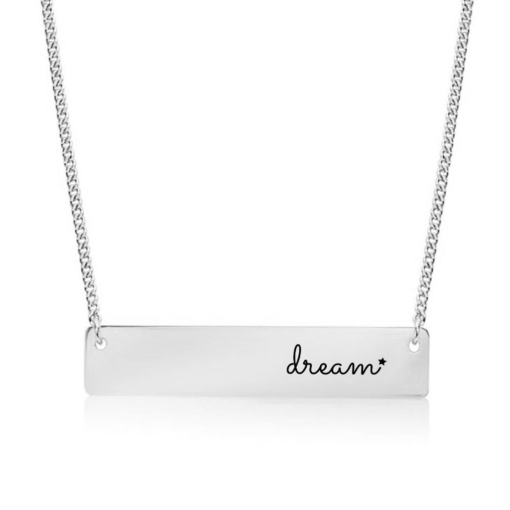 Dream Gold / Silver Bar Necklace - pipercleo.com