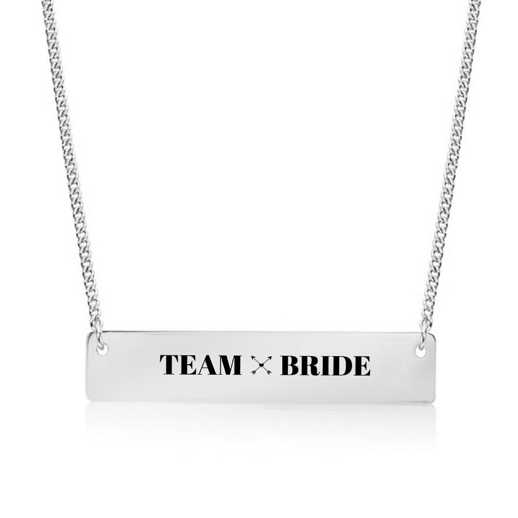 Team Bride Gold / Silver Bar Necklace