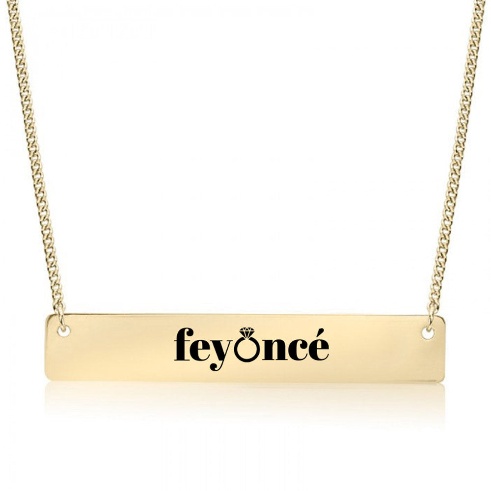 Feyonce Gold / Silver Bar Necklace - Bridesmaid Gift - pipercleo.com