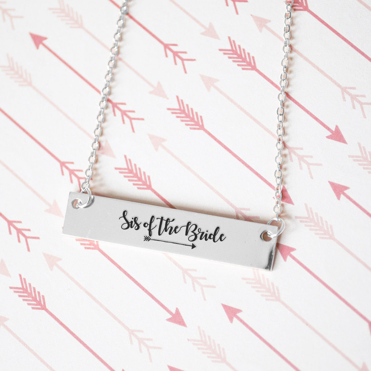 Sister of the Bride Gold / Silver Bar Necklace - Bridesmaid Gift - pipercleo.com