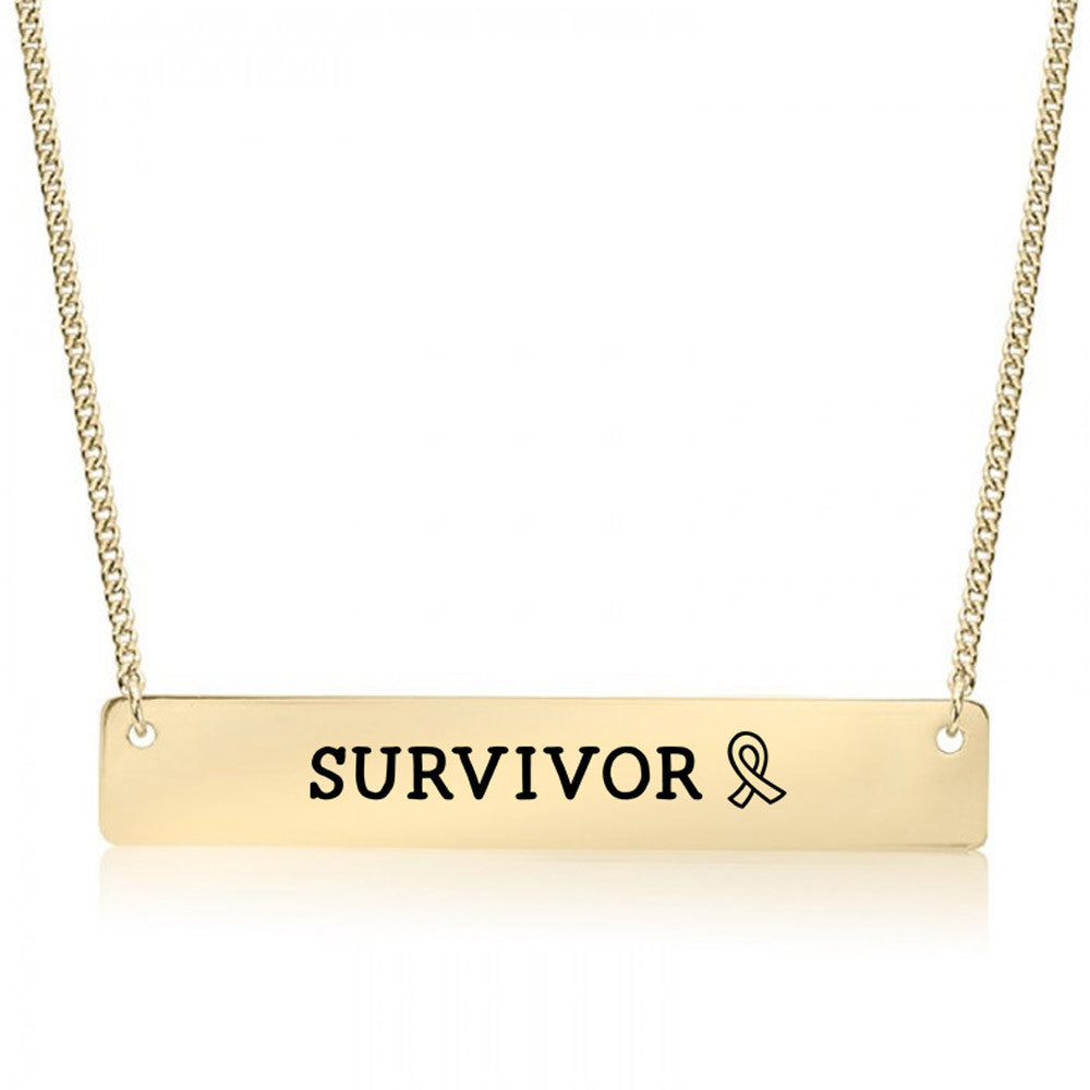 Survivor Gold / Silver Bar Necklace