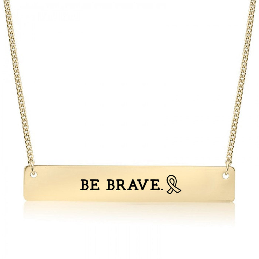 Brave Ribbon Gold / Silver Bar Necklace - pipercleo.com