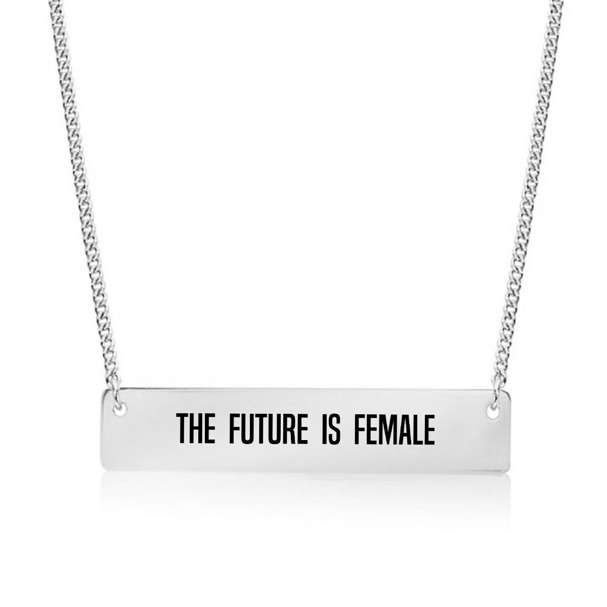 The Future is Female Gold / Silver Bar Necklace - pipercleo.com