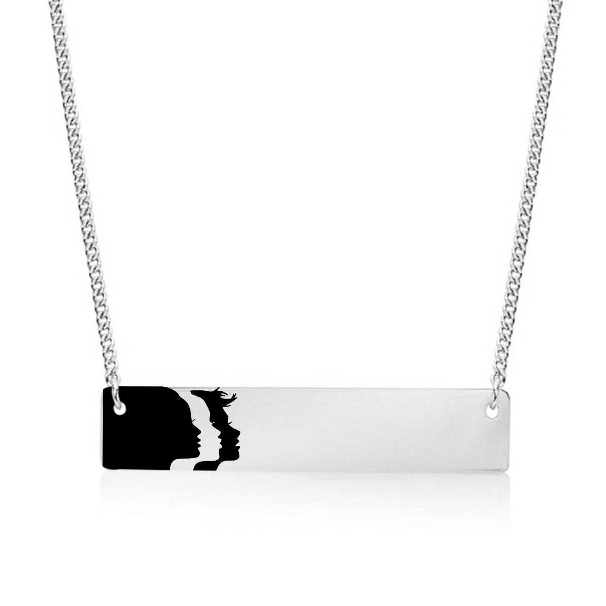 Woman's March Logo Gold / Silver Bar Necklace