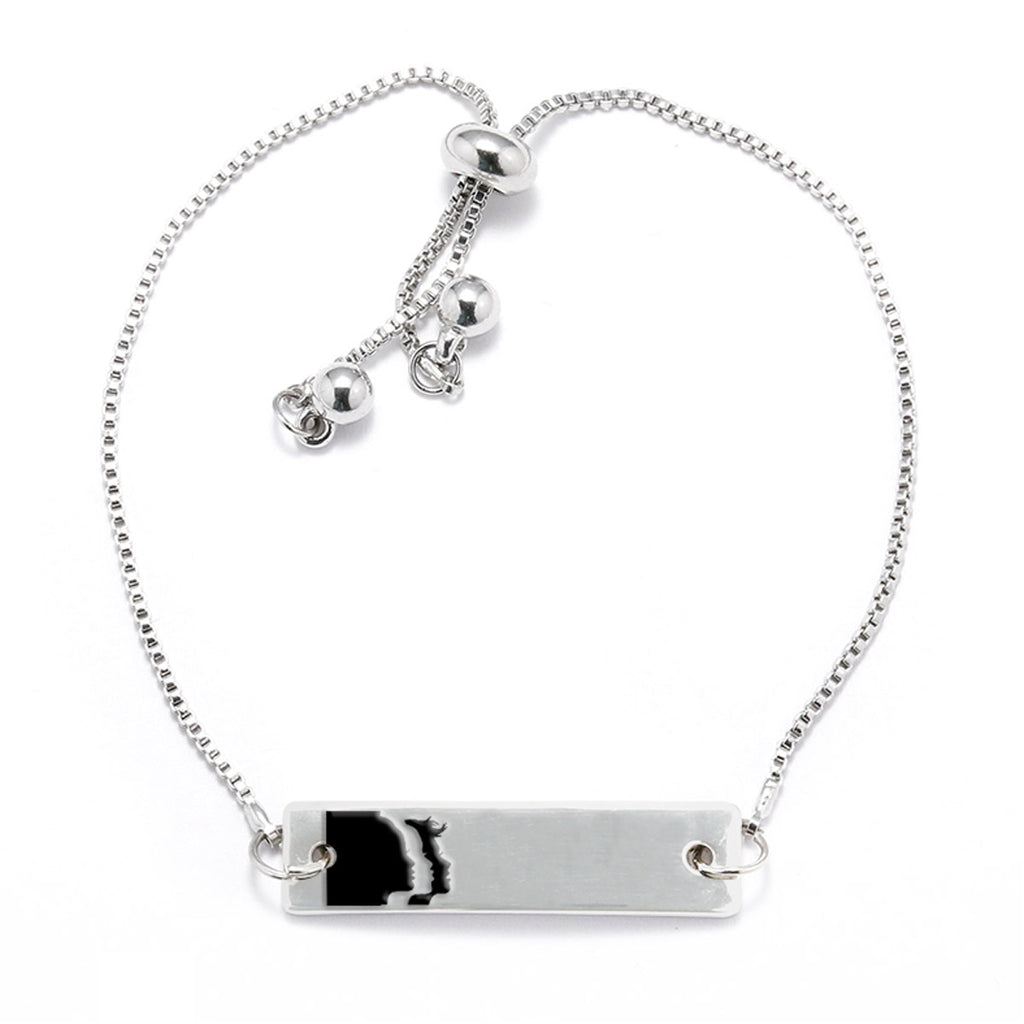 Women's March Logo Silver Bar Adjustable Bracelet - pipercleo.com