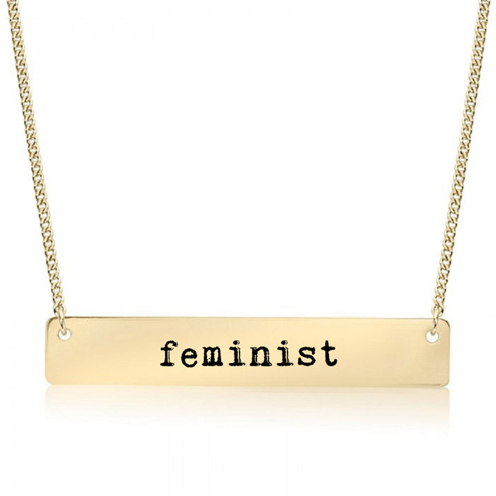 Feminist Gold / Silver Bar Necklace - pipercleo.com