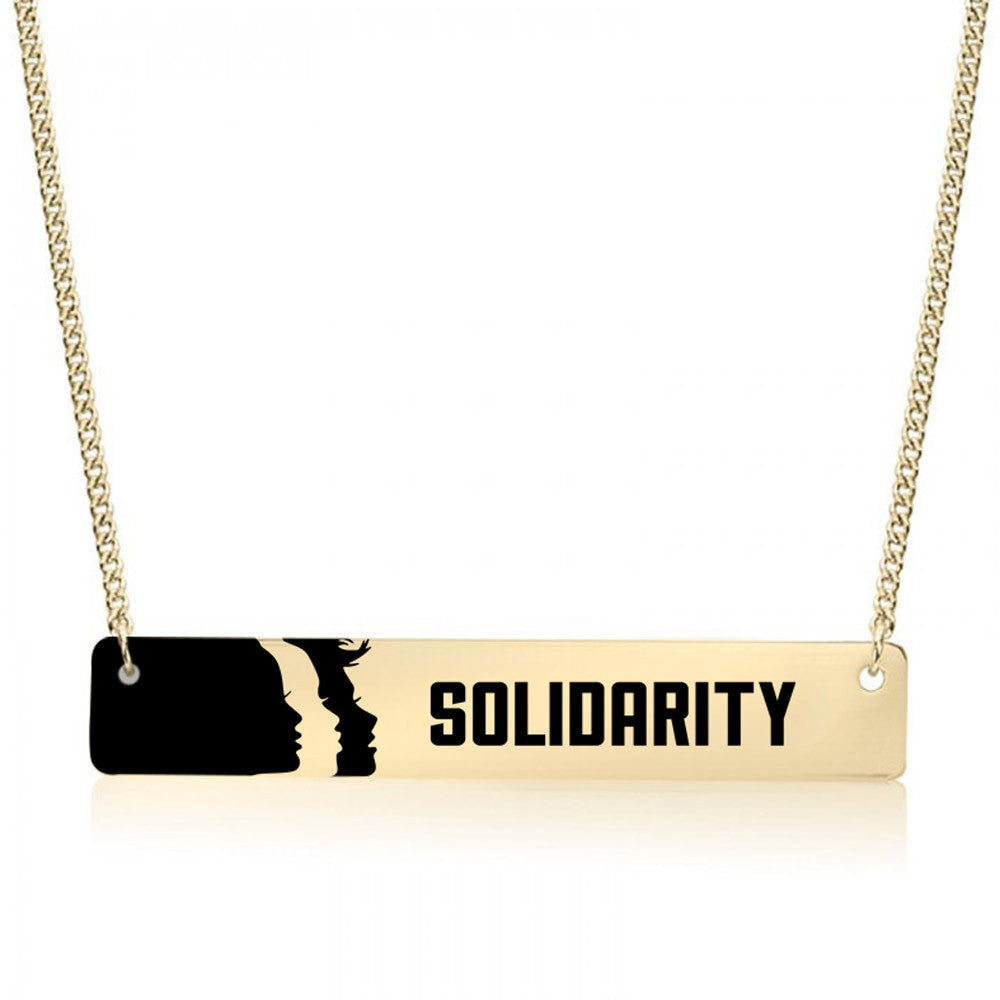 Solidarity Gold / Silver Bar Necklace