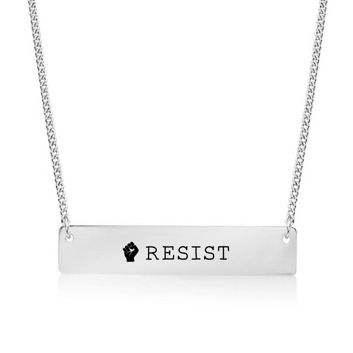 Resist Gold / Silver Bar Necklace - pipercleo.com