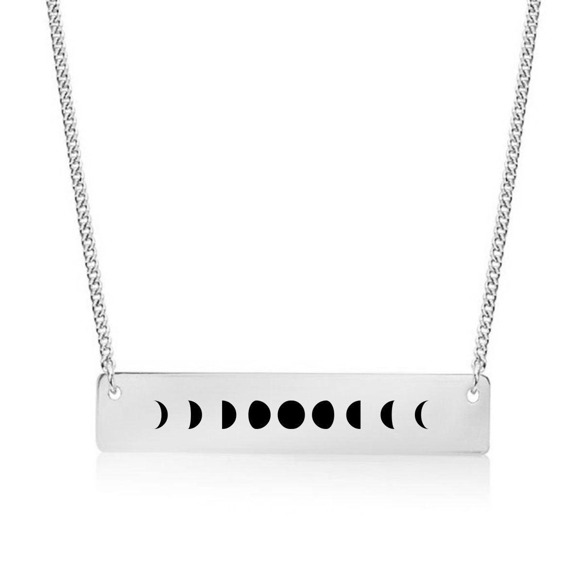 Moon Phases Gold / Silver Bar Necklace - pipercleo.com