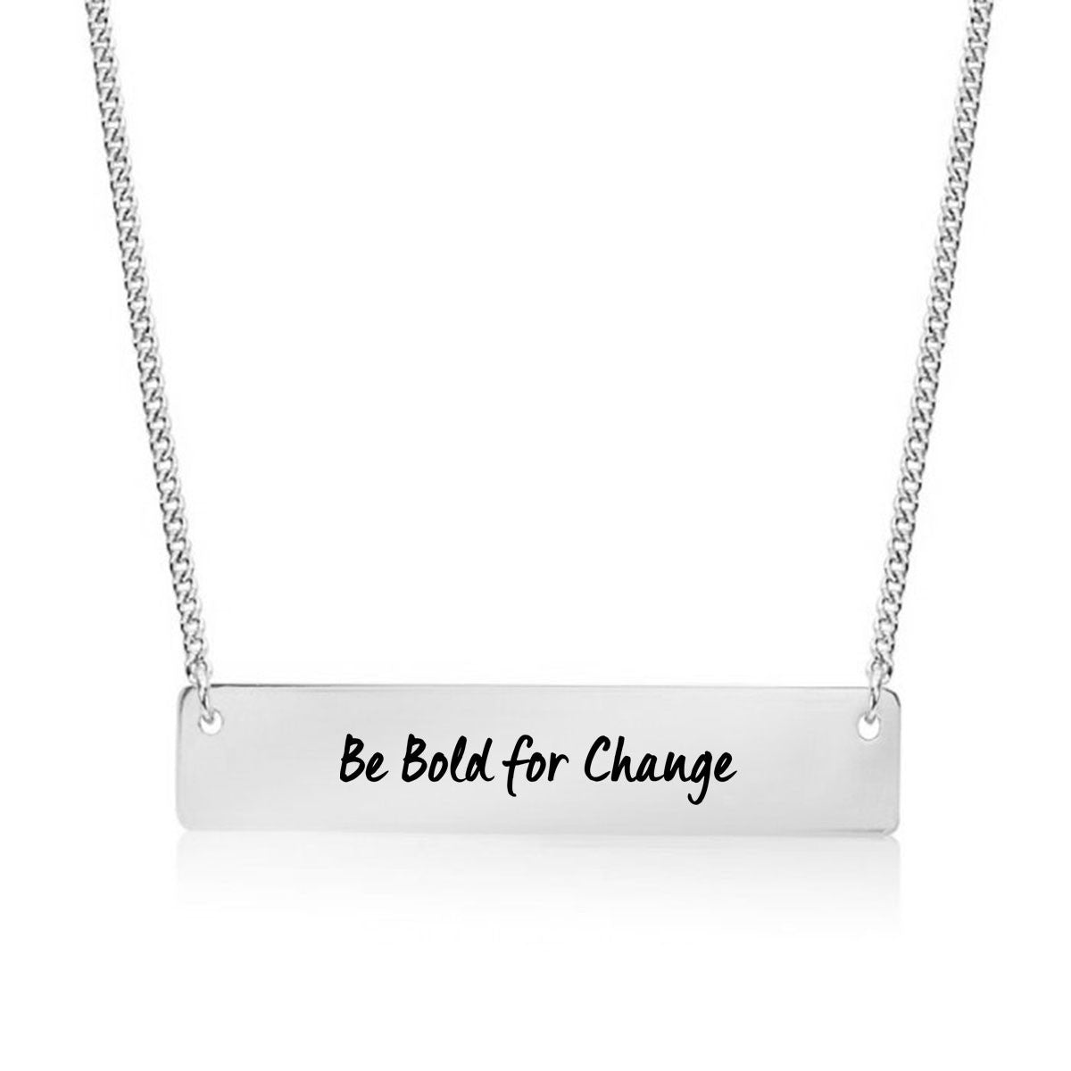 Be Bold for Change Gold / Silver Bar Necklace - pipercleo.com