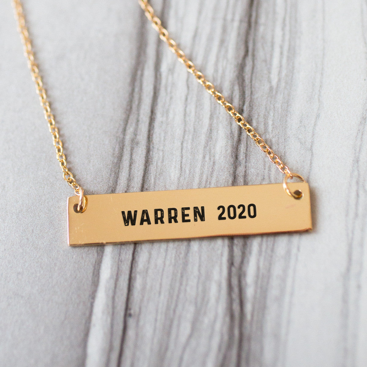 Warren 2020 Gold / Silver Bar Necklace - pipercleo.com