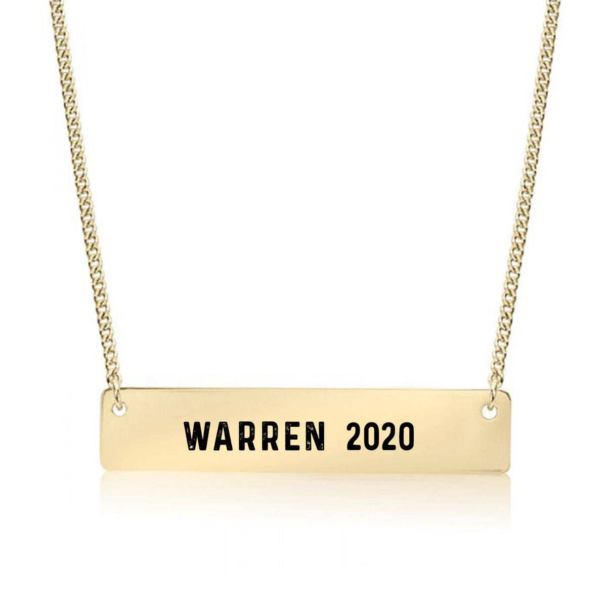 Warren 2020 Gold / Silver Bar Necklace