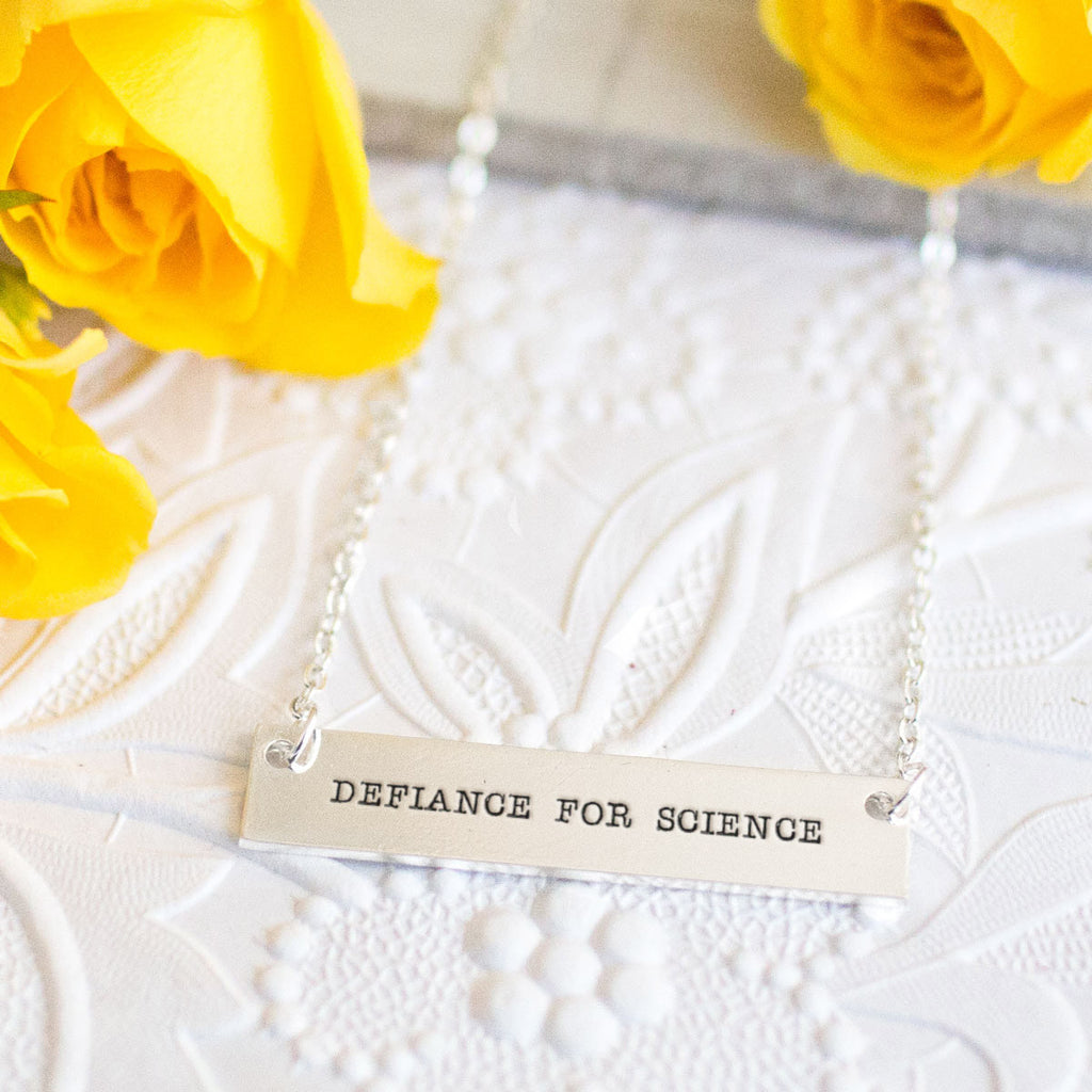Defiance for Science Gold / Silver Bar Necklace - pipercleo.com