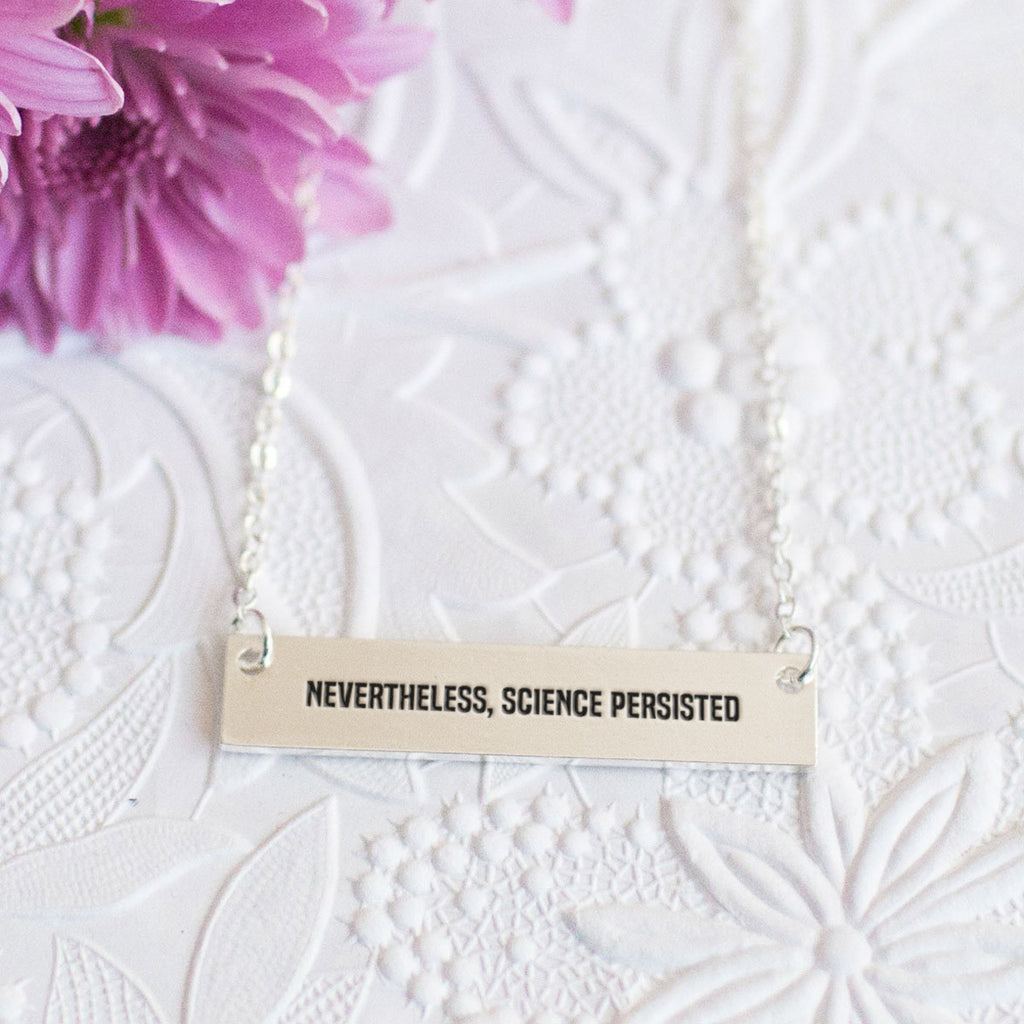Nevertheless, Science Persisted Gold / Silver Bar Necklace