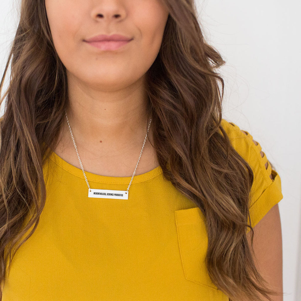 Nevertheless, Science Persisted Gold / Silver Bar Necklace - pipercleo.com