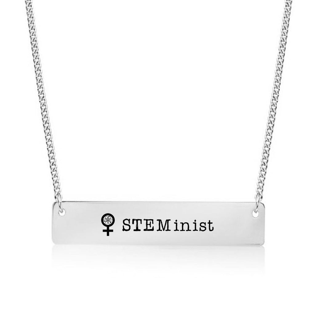 STEM-inist Gold / Silver Bar Necklace - pipercleo.com