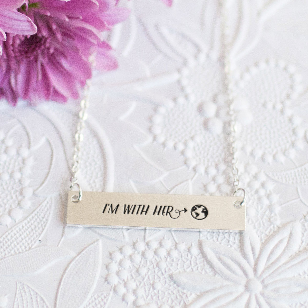 I'm with Mother Nature Gold / Silver Bar Necklace - pipercleo.com