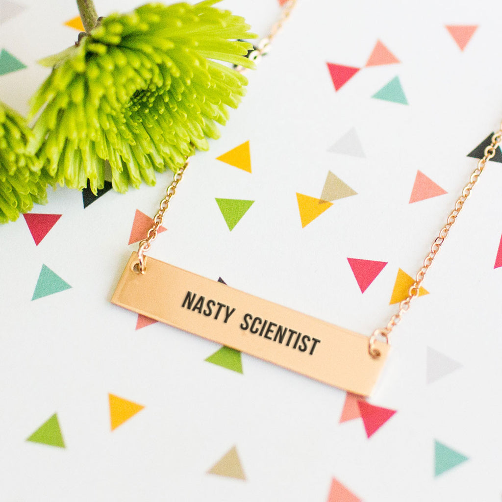 Nasty Scientist Gold / Silver Bar Necklace