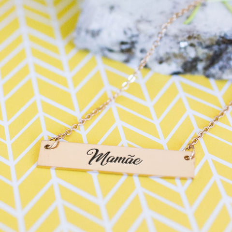 Mamãe Gold / Silver Bar Necklace