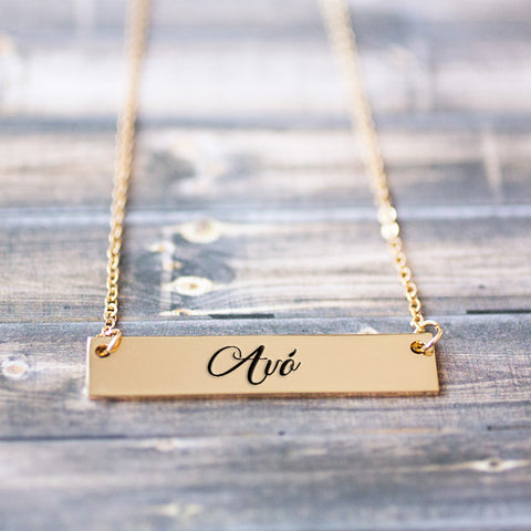 Avó Gold / Silver Bar Necklace - pipercleo.com