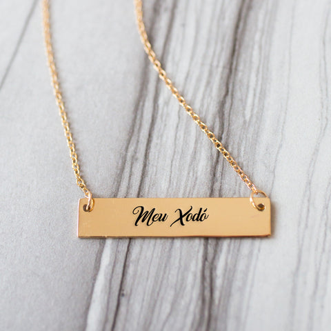 Meu Xodó Gold / Silver Bar Necklace - pipercleo.com