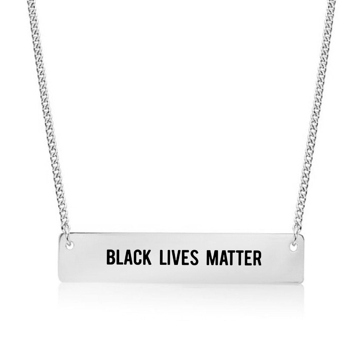 Black Lives Matter Gold / Silver Bar Necklace - pipercleo.com