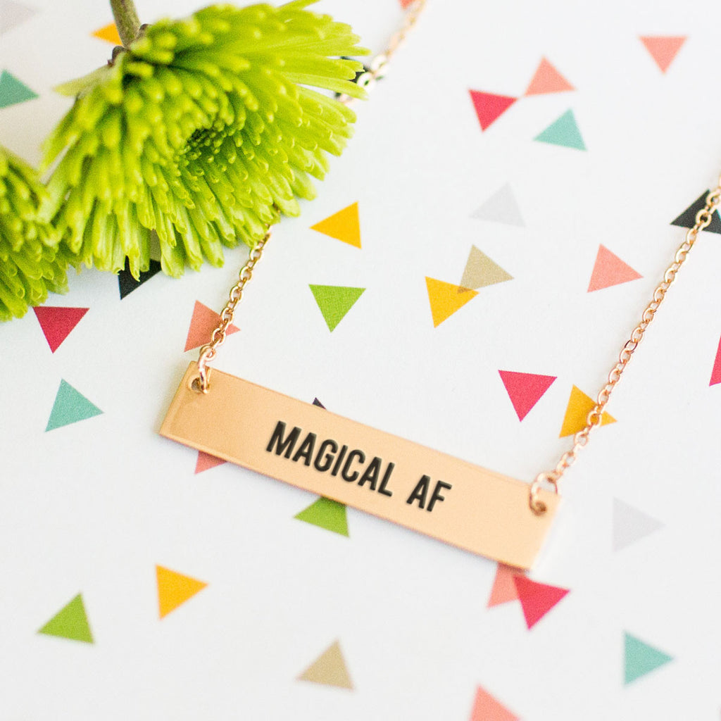 Magical AF Gold / Silver Bar Necklace - pipercleo.com