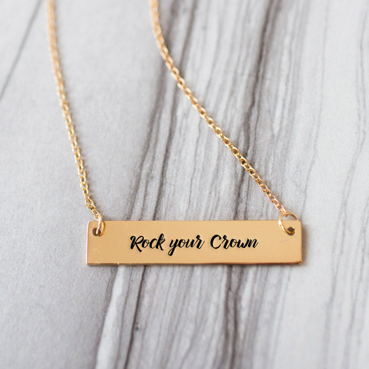 Rock Your Crown Gold / Silver Bar Necklace