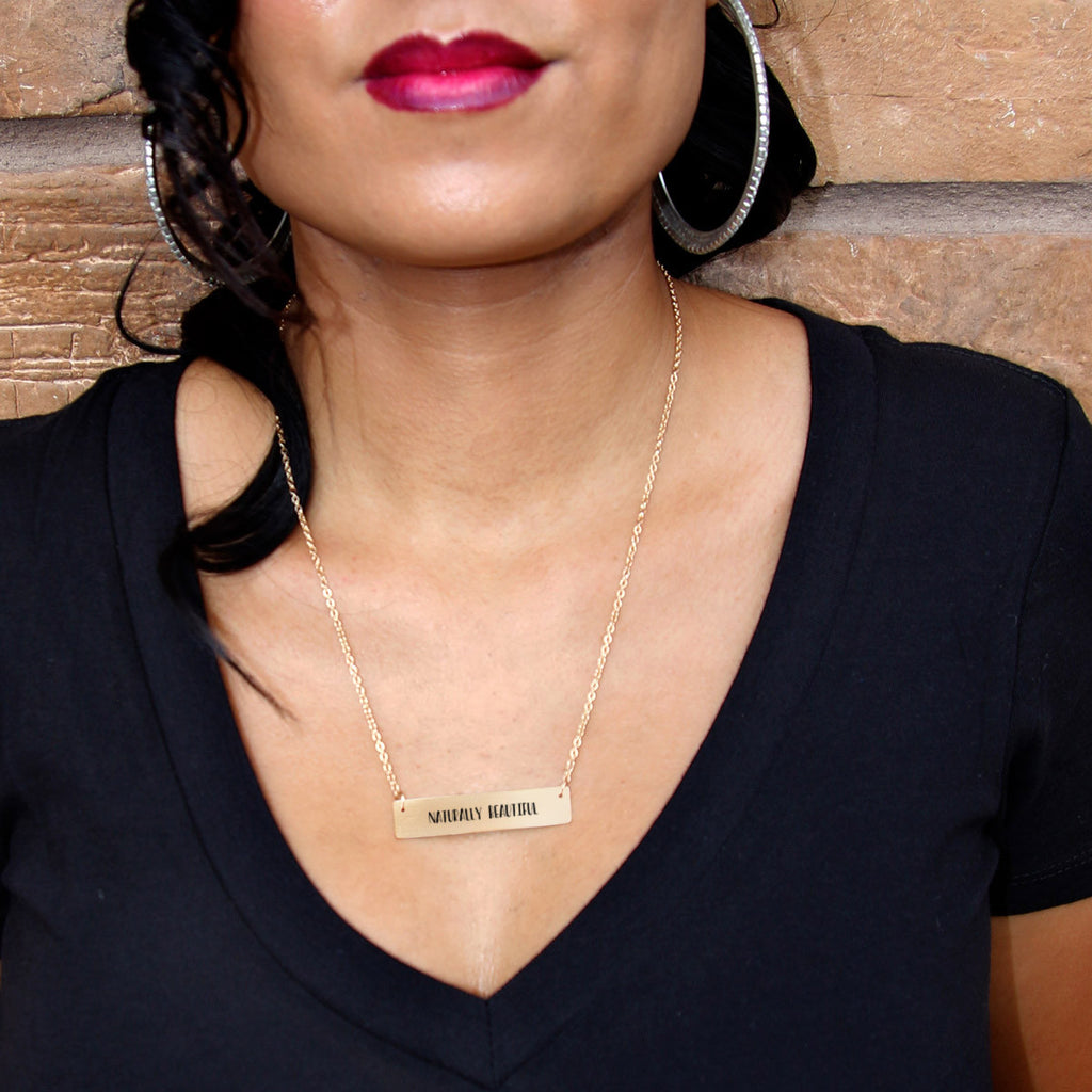 Naturally Beautiful Gold / Silver Bar Necklace - pipercleo.com