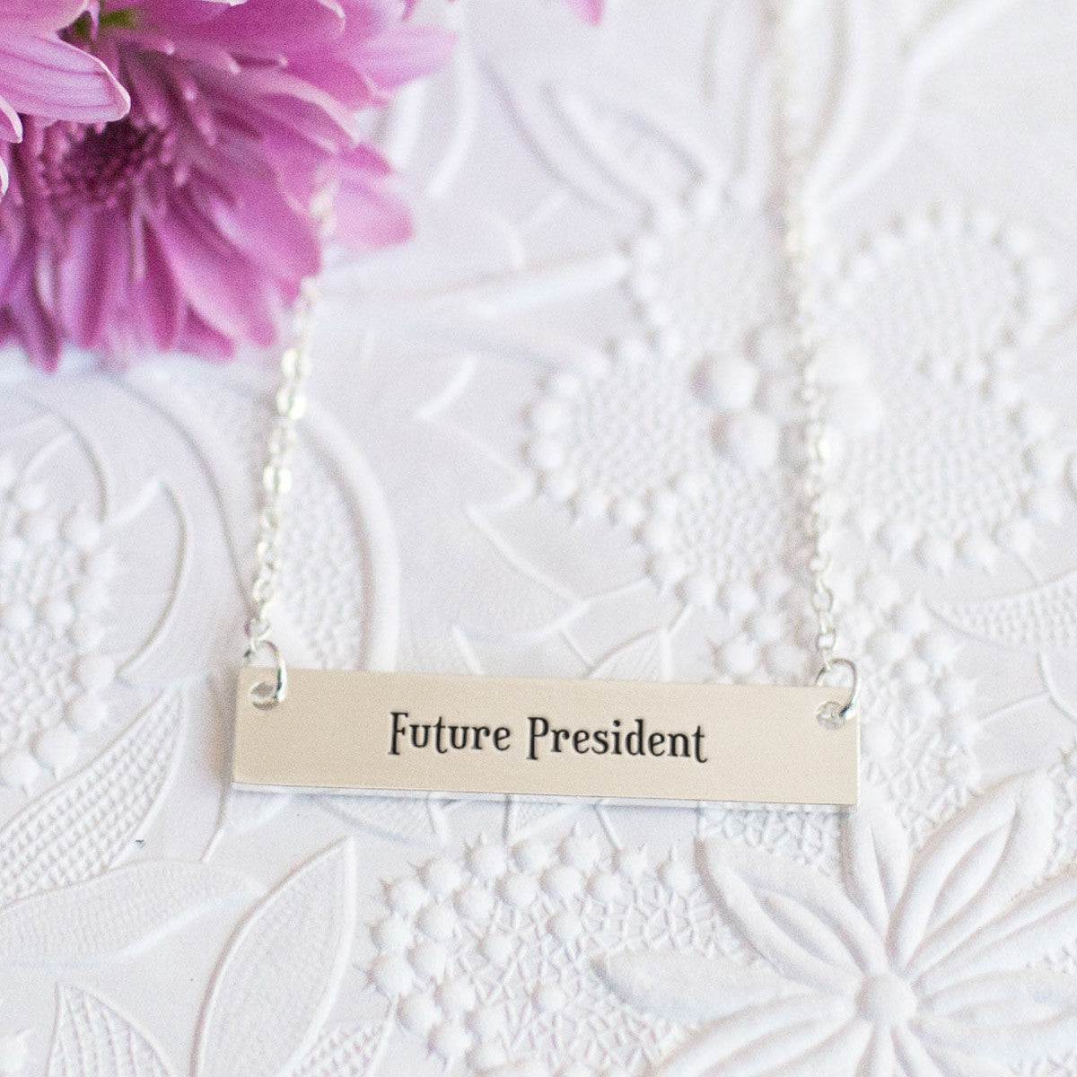 Future President Gold / Silver Bar Necklace
