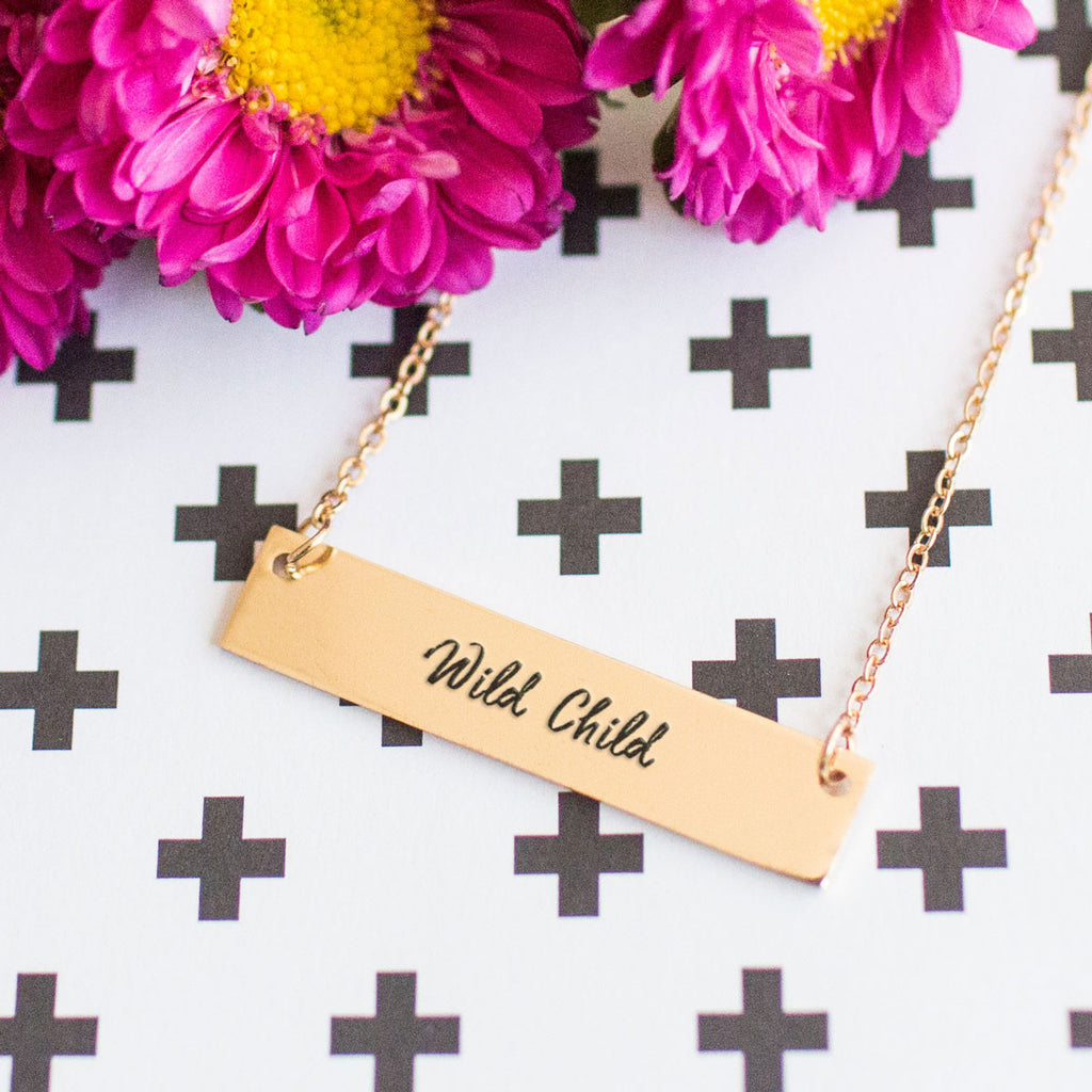 Wild Child Gold / Silver Bar Necklace