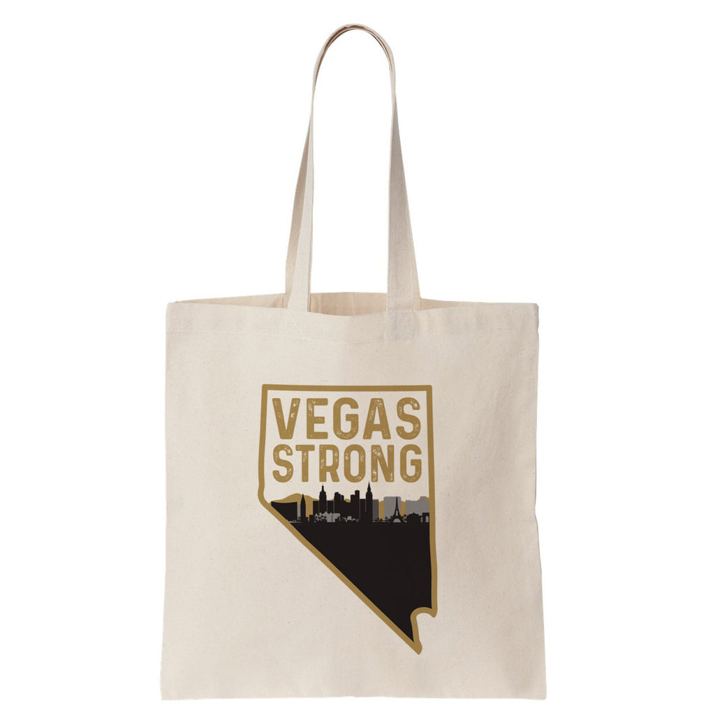 Vegas Strong Cotton Tote Bag - pipercleo.com