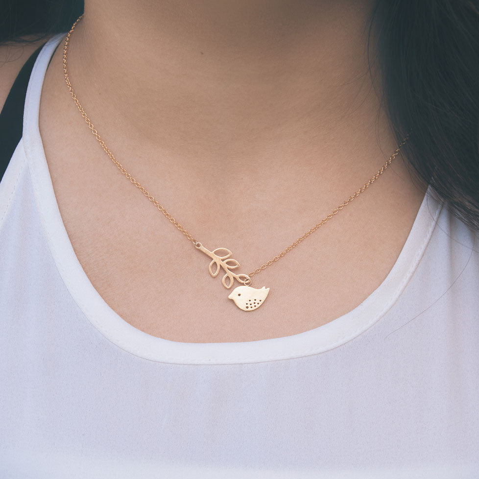 Bluebird Necklace in Gold - pipercleo.com