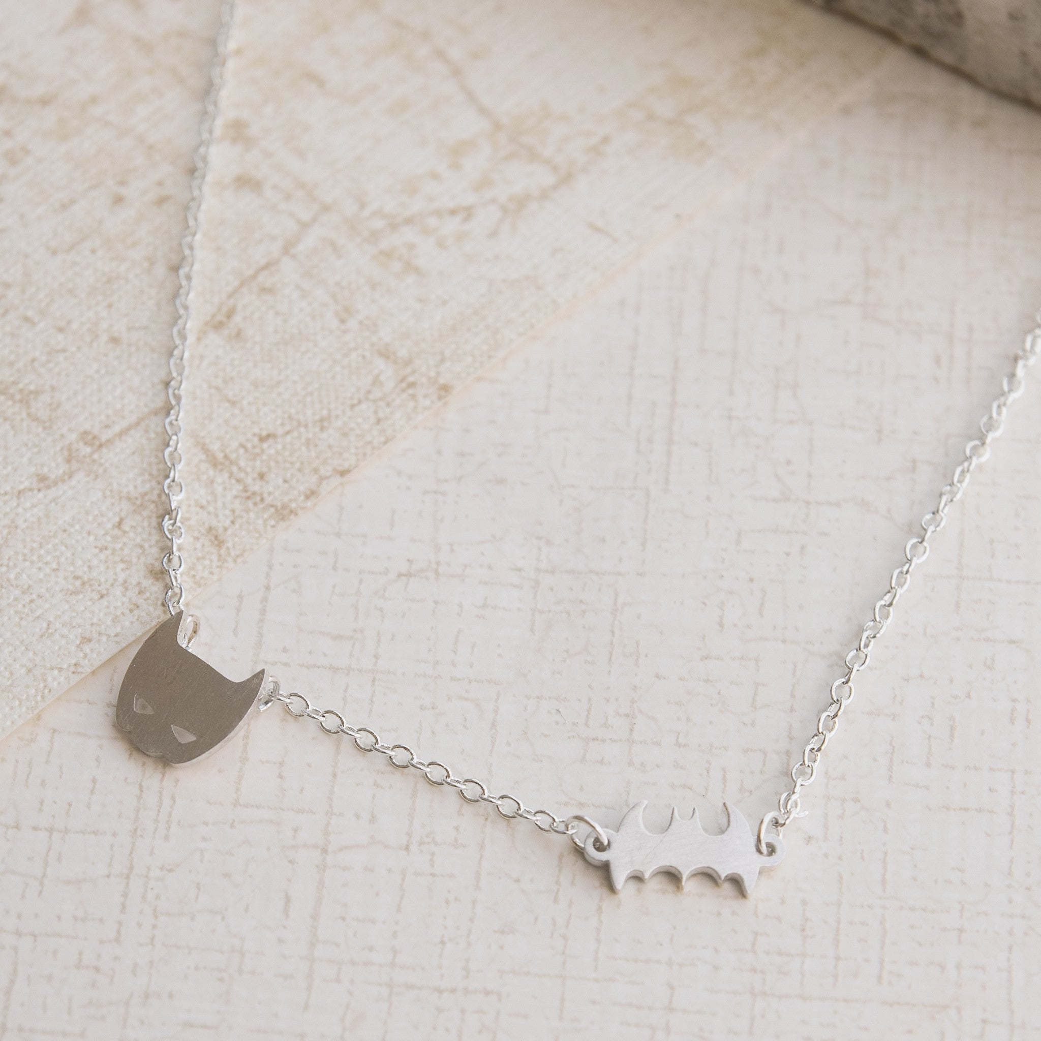 Superhero Goals Silver Necklace