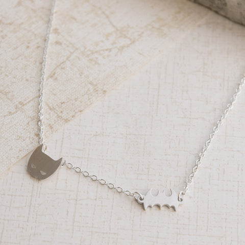 Superhero Goals Silver Necklace - pipercleo.com
