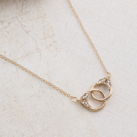 Handcuffs in Gold Necklace - pipercleo.com