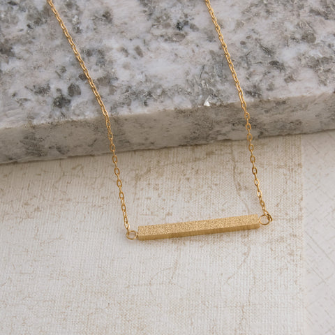 Gold Glitter Bar Necklace - pipercleo.com