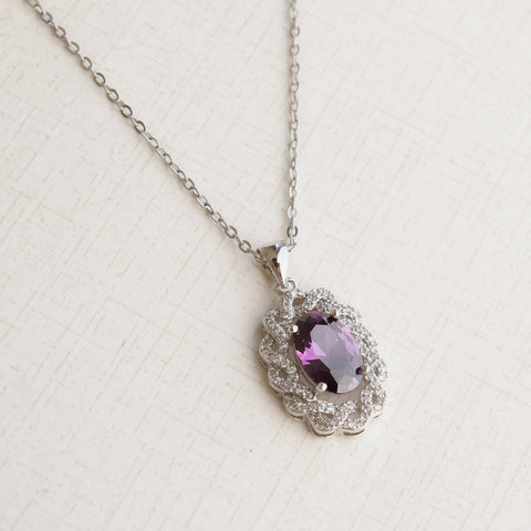 Royal Purple Amethyst Necklace