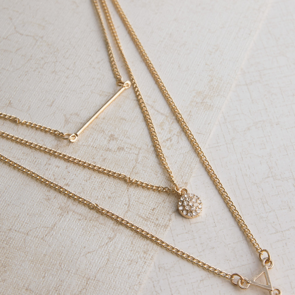 Triple Threat Gold Necklace