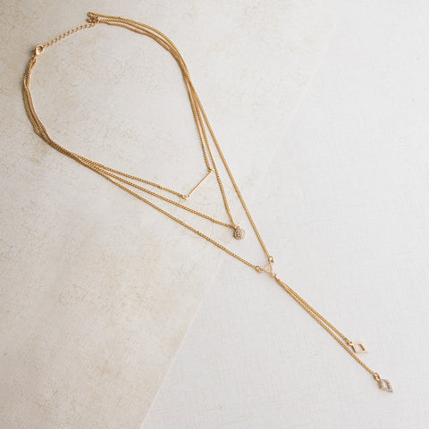 Triple Threat Gold Necklace - pipercleo.com