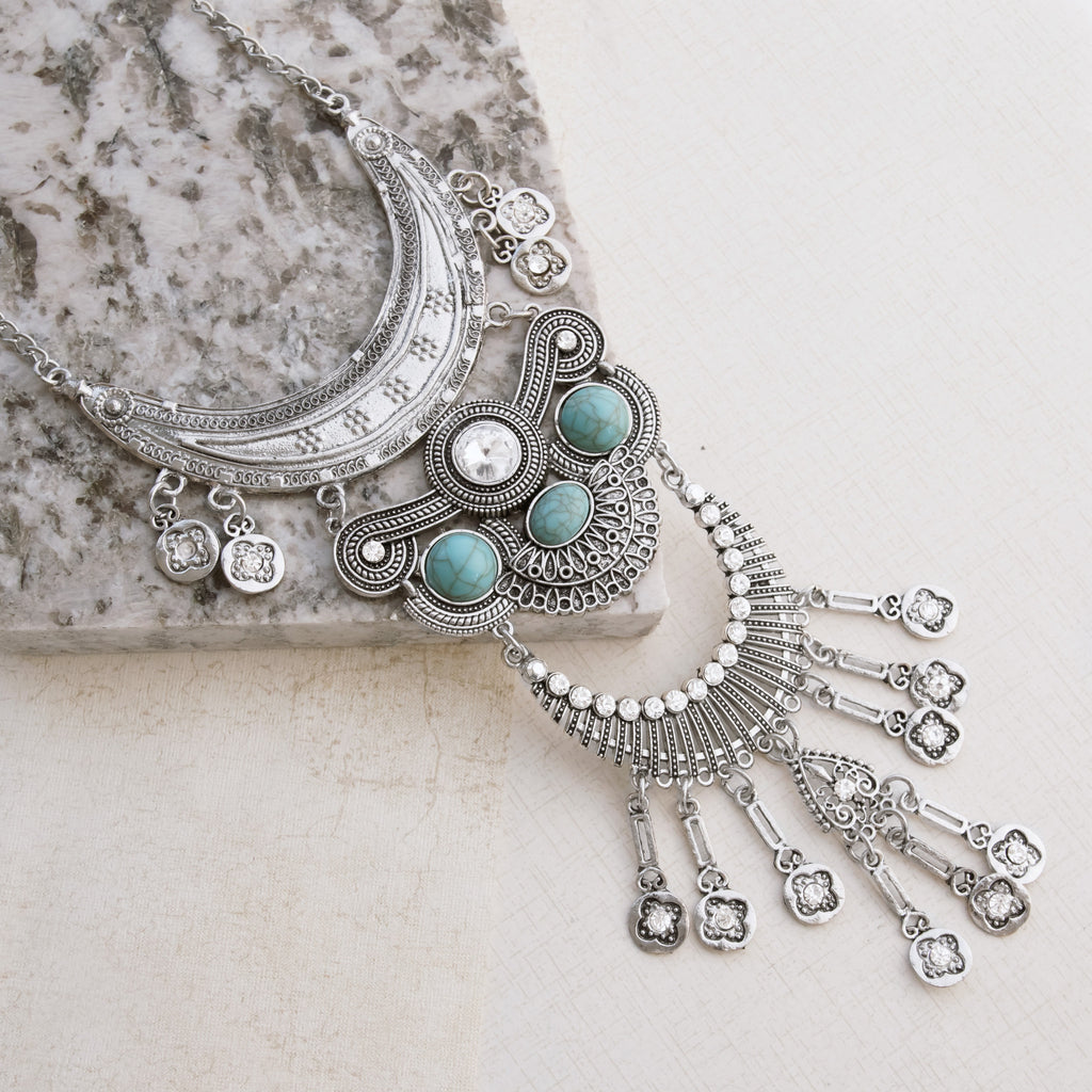 Aztec Princess Silver Necklace - pipercleo.com