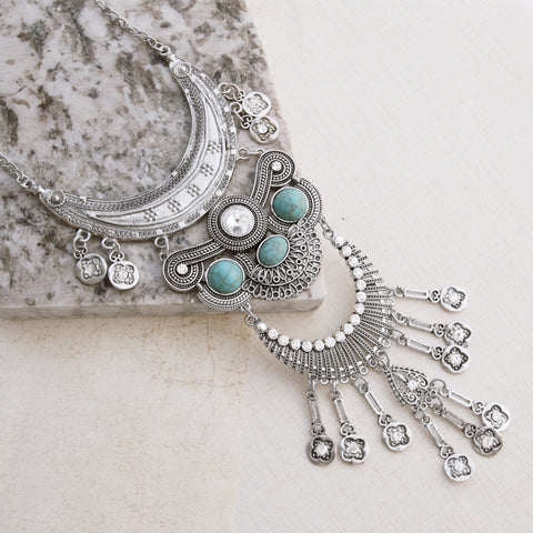 Aztec Princess Silver Necklace