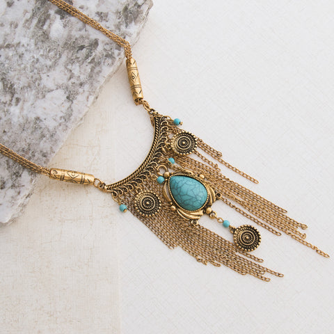 Aztec Gold Necklace - pipercleo.com