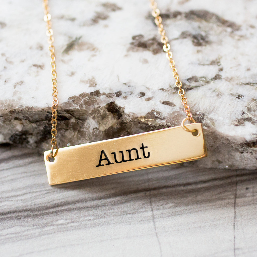 Aunt Gold / Silver Bar Necklace