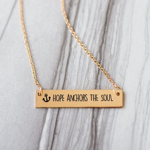 Life Saver Gold / Silver Bar Necklace - pipercleo.com